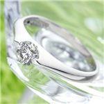 PT900 プラチナ 0.3ctダイヤモンドパサバリング ・ダイヤ指輪